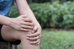 Man with knee pain, arthrosis of the knee.  royalty free stock photos