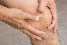 Man with knee pain Stock Photo