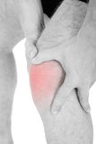 Man With Knee Pain Royalty Free Stock Image