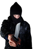 Man with knife Royalty Free Stock Images