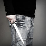 Man with a knife Royalty Free Stock Photography