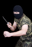 The man with a knife Stock Photography