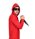 Man with a knife Stock Image
