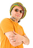 Man in knit hat Royalty Free Stock Photo