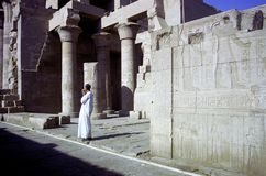 Man at Kom Ombo Stock Photography