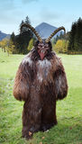Man in Krampus costume Royalty Free Stock Photos