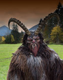 Man in Krampus costume Stock Photography