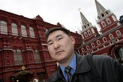 Man in Kremlin. The man in Kremlin posing on museum background Stock Images