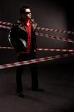 Man-kriminalare brotts- plats Royaltyfri Foto