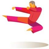 Man is kung fu master Stock Image