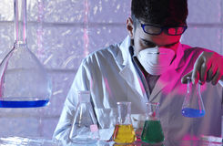 Man in the laboratory. Man working in the laboratory Stock Photos
