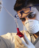 Man in the laboratory Stock Photo
