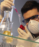 Man in the laboratory. Man working in the laboratory Royalty Free Stock Image