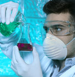 Man in the laboratory. Man working in the laboratory Royalty Free Stock Photography