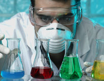 Man in the laboratory Stock Photography