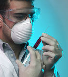 Man in the laboratory. Man working in the laboratory Stock Photo