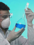 Man in the laboratory. Man working in the laboratory Royalty Free Stock Photo