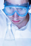 Man in the laboratory Stock Image
