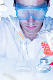 Man in the laboratory Royalty Free Stock Images