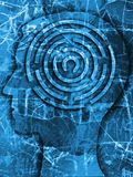 Man labyrint av liv Arkivfoton