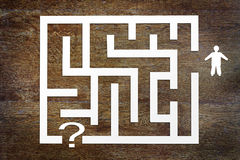 Man and a labyrinth Stock Photography