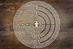 Man into a labyrinth Royalty Free Stock Photos