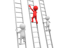 Man with ladder Stock Image