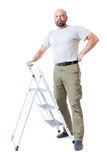 Man with ladder Stock Photos