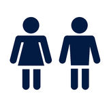 Man lady toilet icon Stock Photos