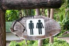 Man and a lady toilet sign Royalty Free Stock Image