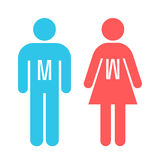 Man and lady toilet sign Stock Photos