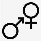 man and  lady toilet sign  male  female symbols Stock Image
