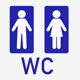 man and  lady toilet sign  male  female symbols Royalty Free Stock Image