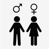 man and  lady toilet sign  male  female symbols Stock Photography