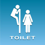A man and a lady toilet sign vector Royalty Free Stock Images