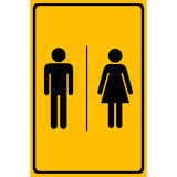 A man and a lady toilet sign, Vector illustration Stock Image