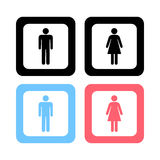 Man and lady toilet sign, Vector illustration Royalty Free Stock Images