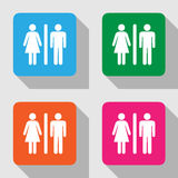 Man and lady toilet sign, Vector illustration Royalty Free Stock Image
