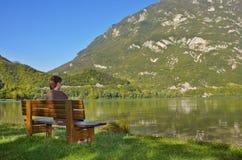 Man at the lake Stock Images