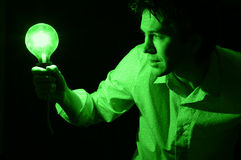 Man with lamp. Stock Image