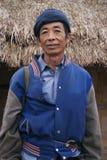 Man in Laos. A Portrait of a Lao Man in Viang Xai in Laos Stock Photos