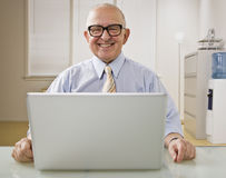 Man on Laptop Royalty Free Stock Photo