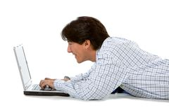 Man with a laptop Stock Image