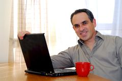 Man with laptop Royalty Free Stock Photography