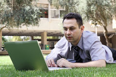 Man with a laptop Royalty Free Stock Images