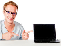 Man with a laptop Royalty Free Stock Image