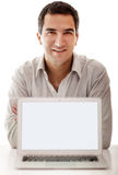 Man with a laptop Royalty Free Stock Photo