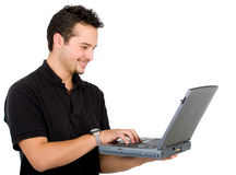 Man on a laptop Royalty Free Stock Photo