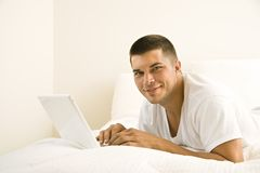Man on laptop. Stock Image