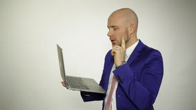 Man with laptop stock footage